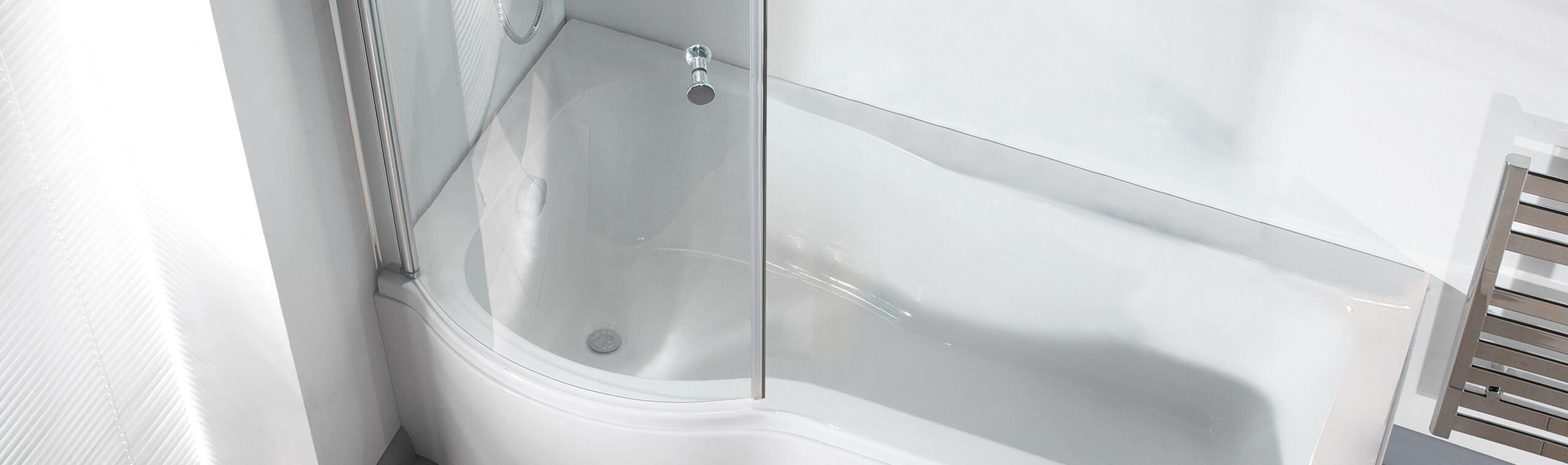 P Shaped Shower Baths