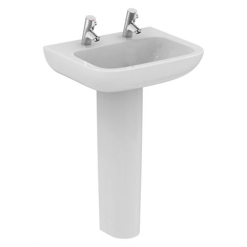 Armitage Shanks Portman 21 Washbasin 50cm 2 Taphole No Overflow With Full Pedestal