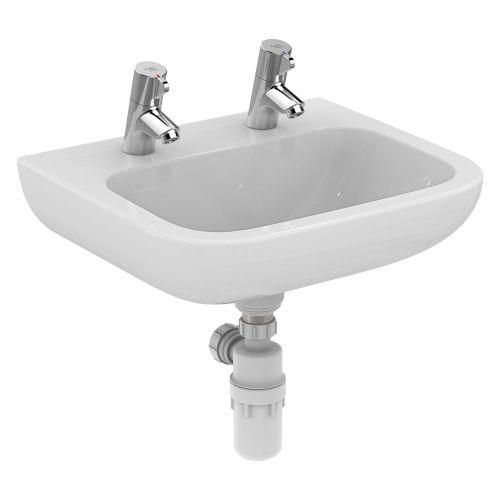 Armitage Shanks Portman 21 Washbasin 50cm 2 Taphole - No Overflow S225301