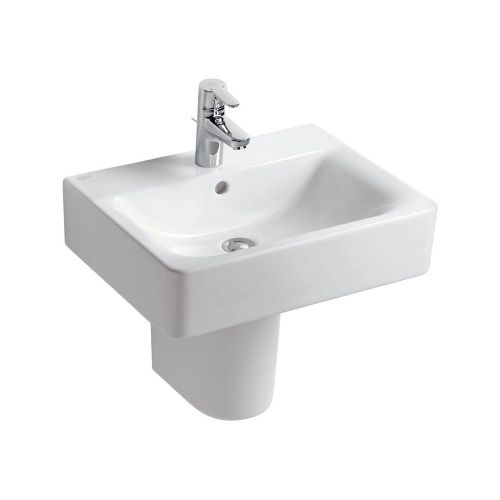 Ideal Standard Concept Cube Washbasin 55cm 1 Tap Hole With Half Pedestal