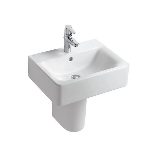 Ideal Standard Concept Cube Washbasin 50cm 1 Tap Hole With Half Pedestal