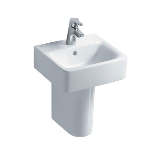 Ideal Standard Concept Cube Handrinse 40cm 1 Tap Hole With Half Pedestal