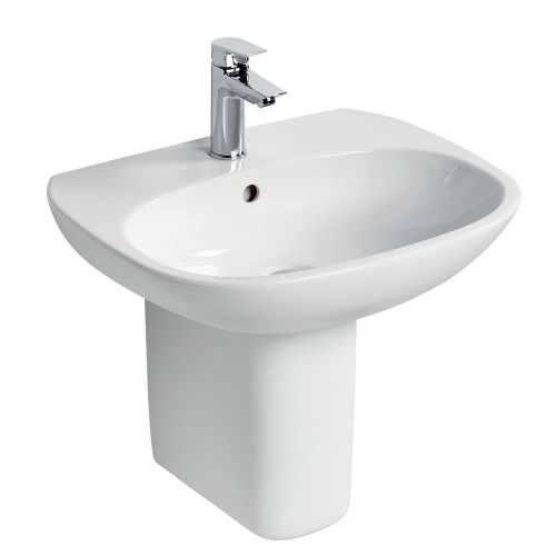 Ideal Standard Tesi Basin 60cm 1 Tap Hole With Half Pedestal