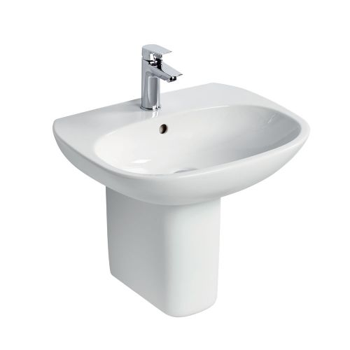 Ideal Standard Tesi Basin 55cm 1 Tap Hole With Half Pedestal
