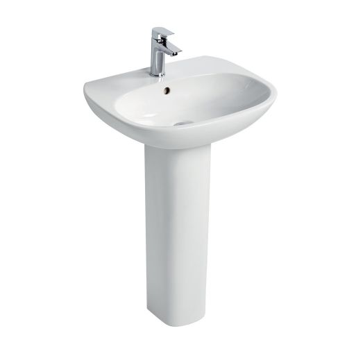 Ideal Standard Tesi Basin 50cm 1 Tap Hole With Full Pedestal