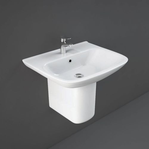 Rak Origin Basin 65cm 1 Tap Hole With Half Pedestal