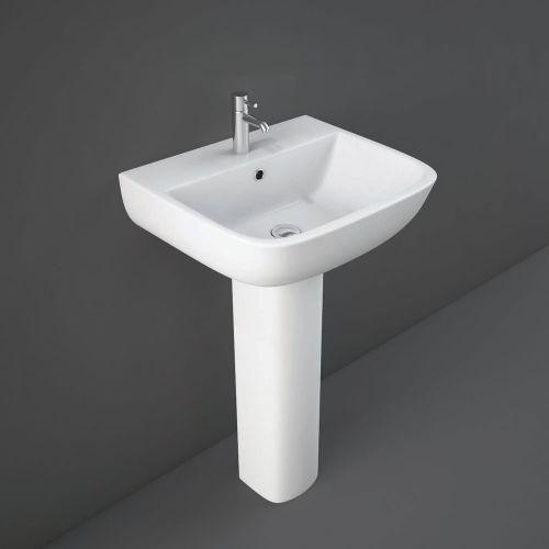 Rak Series 600 Basin 52cm 1 Tap Hole With Full Pedestal