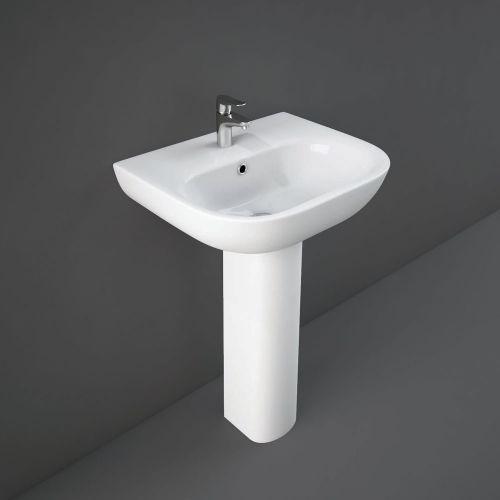 Rak Tonique Basin 55cm 1 Tap Hole With Full Pedestal