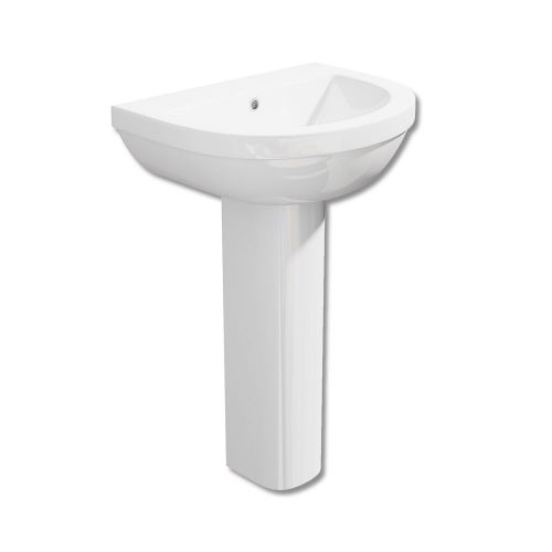 Synergy Alpha Basin 54cm 1 Tap Hole With Full Pedestal