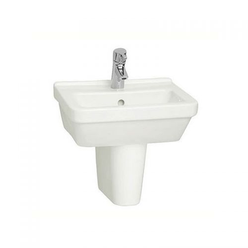 Vitra S50 Washbasin Square 45cm 1 Tap Hole And Half Pedestal