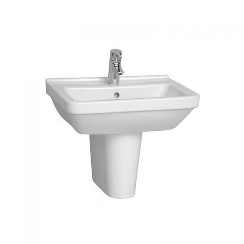 Vitra S50 Washbasin Square 60cm 1 Tap Hole And Half Pedestal