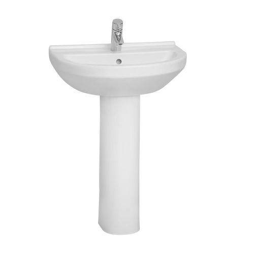 Vitra S50 Washbasin Round 60cm 1 Tap Hole And Full Pedestal