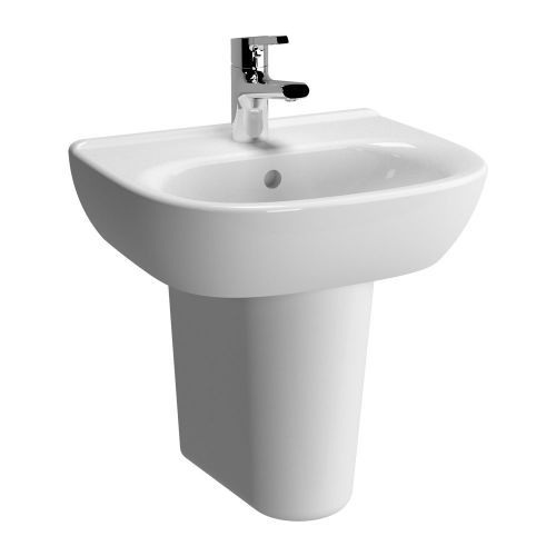 Vitra Zentrum Washbasin 45cm 1 Tap Hole And Half Pedestal