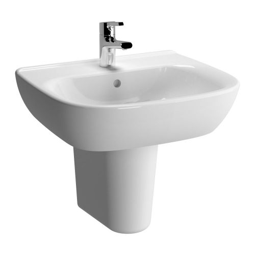 Vitra Zentrum Washbasin 55cm 1 Tap Hole And Half Pedestal