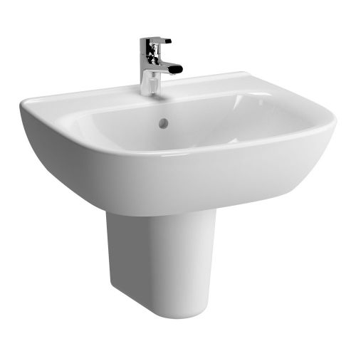 Vitra Zentrum Washbasin 60cm 1 Tap Hole And Half Pedestal