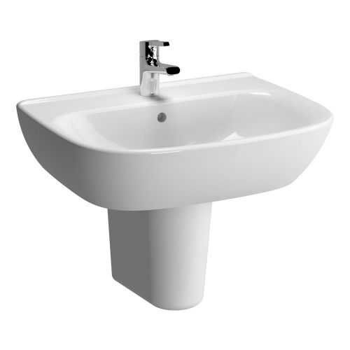 Vitra Zentrum Washbasin 65cm 1 Tap Hole And Half Pedestal
