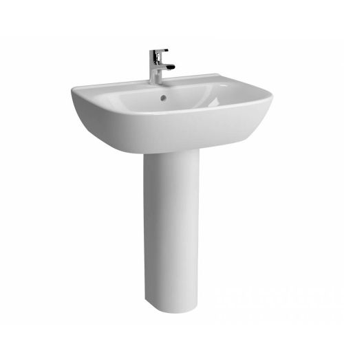 Vitra Zentrum Washbasin 65cm 1 Tap Hole And Full Pedestal