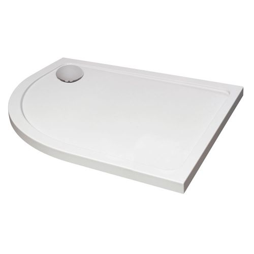 Hydro45 Offset Quadrant Left Hand Shower Tray White