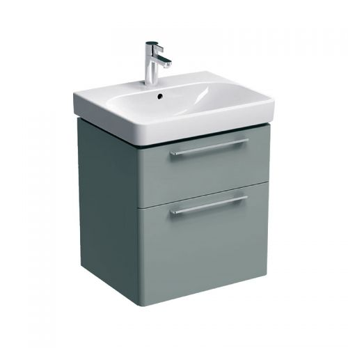 Geberit Smyle Grey 600mm Vanity Unit & 1 Taphole Basin