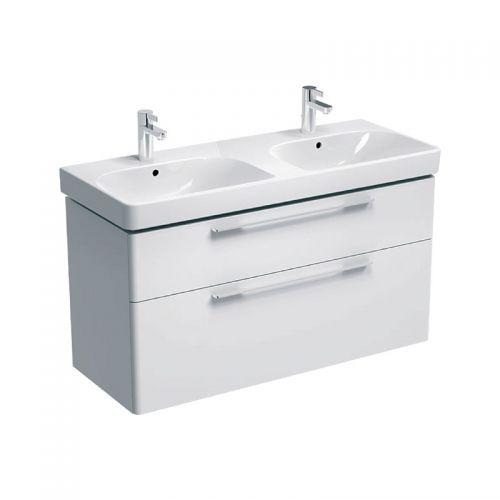 Geberit Smyle White 1200mm Vanity Unit & Double Basin