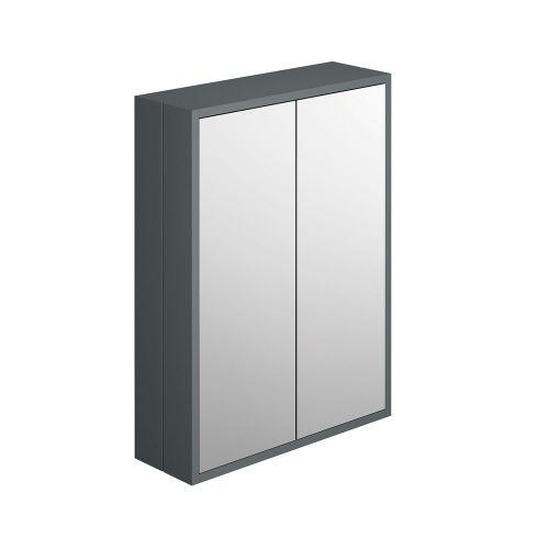 Synergy Henbury Grey 600mm Mirror Cabinet
