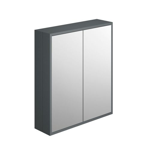 Synergy Henbury Grey 700mm Mirror Cabinet