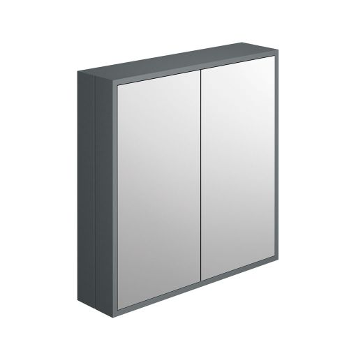 Synergy Henbury Grey 800mm Mirror Cabinet