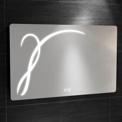 Synergy Messina Mirror with IR Switch, LED Clock and Demister  900 x 560mm