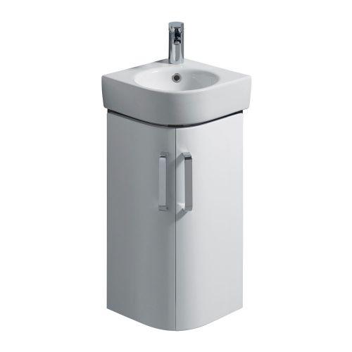 Twyford E200 White Vanity Unit & Corner Handrinse Basin 320x320mm