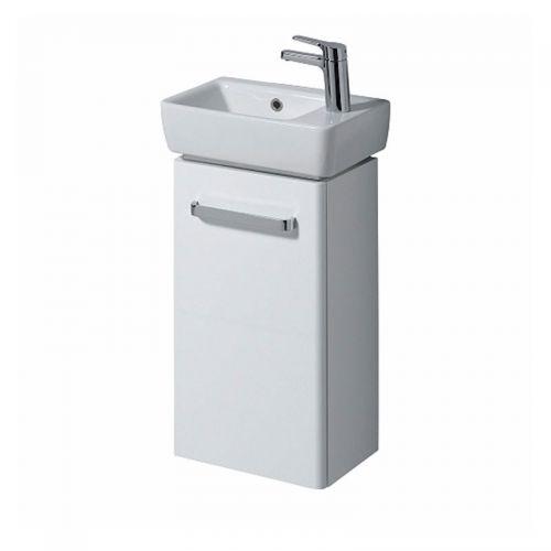 Twyford E200 White Vanity Unit & Handrinse Basin 400x250mm Right Handed