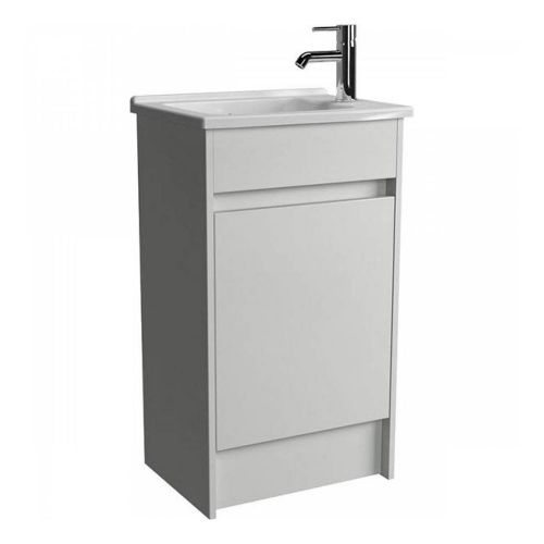 Vitra S50 White Compact 50cm Floor Standing Vanity Unit with Basin 52978