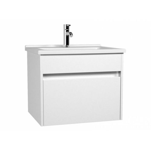 Vitra S50 White 60cm Wall Mounted Vanity Unit With Basin 54734