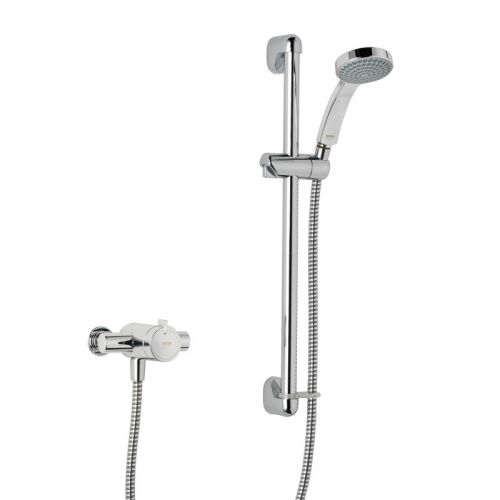 Mira Minilite Ev Exposed Shower Mixer With Slider Rail Kit 1.1869001