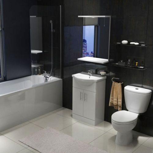 Modern Standard Shower Bath Suite
