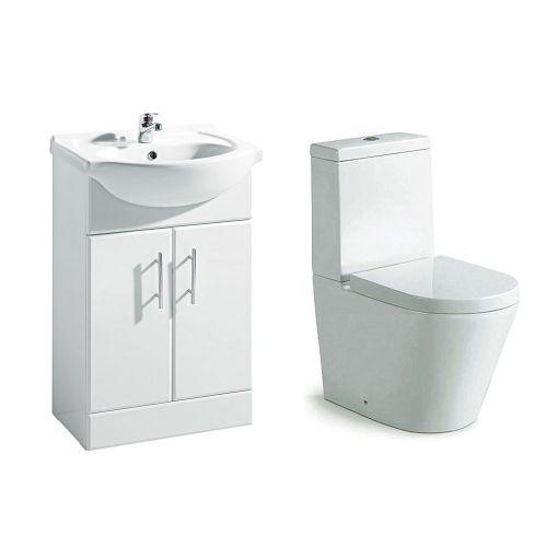 Navero 650mm Furniture & Toilet Bundle