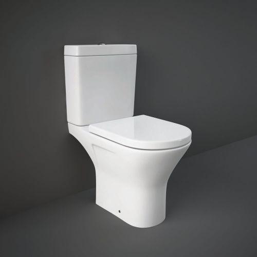 Rak Resort Mini Close Coupled Full Access Toilet WC With Soft Close Seat