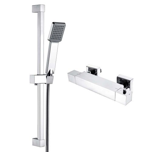 Dee Square Exposed Bar Valve Shower Set - By Voda Design