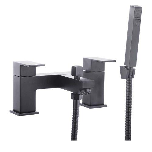 Douglas Black Bath Shower Mixer with Shower - By Voda Design