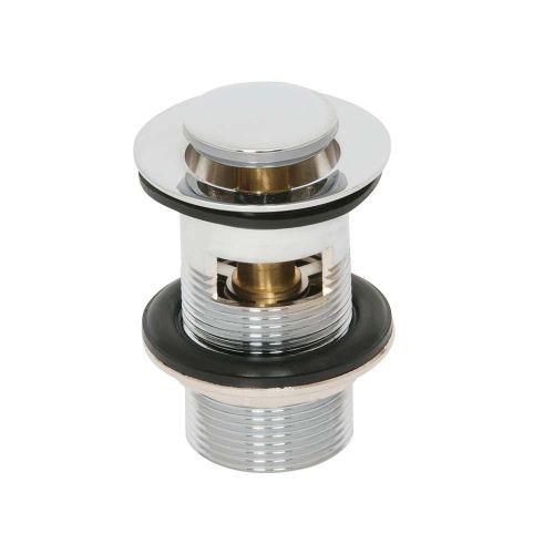Soar Chrome Slotted Basin Waste Plug Top - By Voda Design