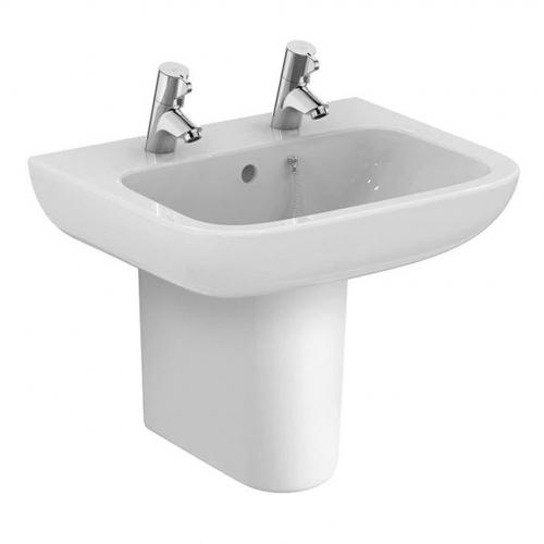 Armitage Shanks Portman 21 Washbasin 50cm 2 Taphole With Overflow With Half Pedestal