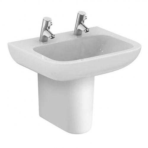 Armitage Shanks Portman 21 Washbasin 50cm 2 Taphole No Overflow With Half Pedestal