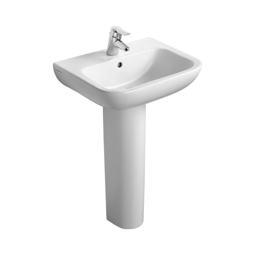 Armitage Shanks Portman 21 Washbasin 40cm 1 Taphole With Overflow With Full Pedestal