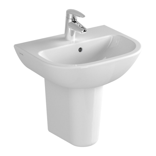 Vitra S20 Washbasin 45cm 1 Tap Hole And Half Pedestal