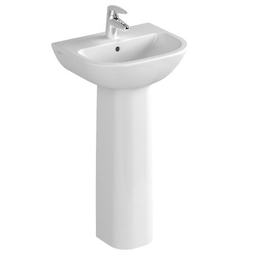 Vitra S20 Washbasin 45cm 1 Tap Hole And Full Pedestal