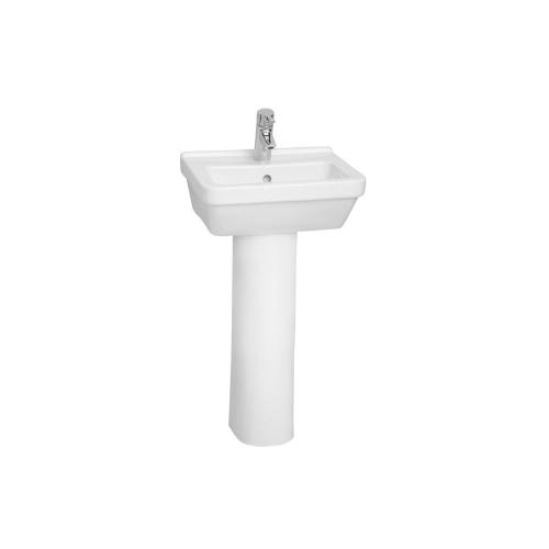 Vitra S50 Washbasin Square 45cm 1 Tap Hole And Full Pedestal