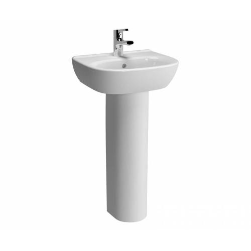 Vitra Zentrum Washbasin 45cm 1 Tap Hole And Full Pedestal