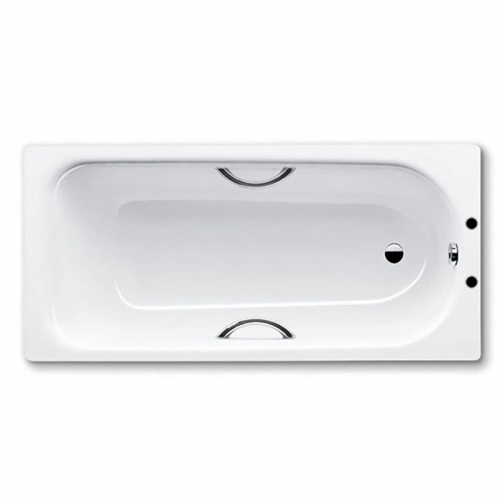 Kaldewei Eurowa Anti Slip Steel Bath Drilled For Twin Grips