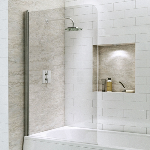 Radius Straight Bath Screen