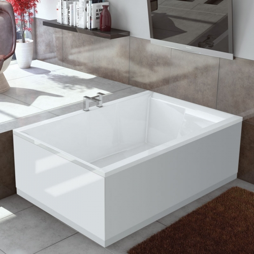 Synergy Dupla Large Modern Double Ended Bath 1800 x 1200 x 540mm No Tap Holes
