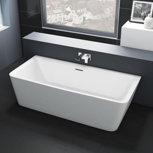 Synergy Kilmory Modern Square Back To Wall Bath 1800 x 860mm